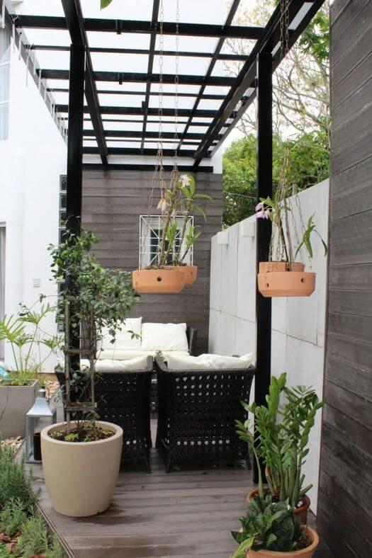 jardim residencial - pergolado para receber amigos