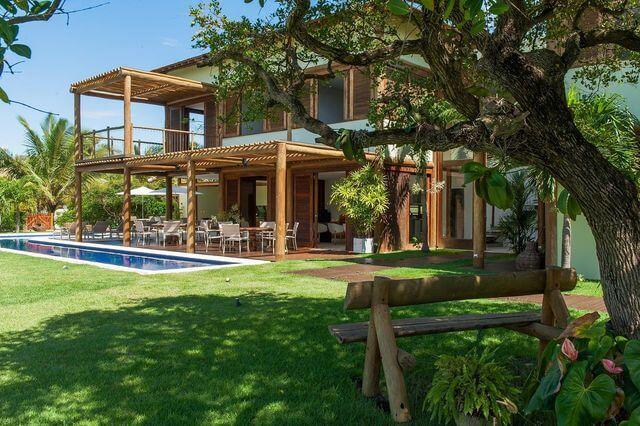 jardim residencial - piscina e jardim