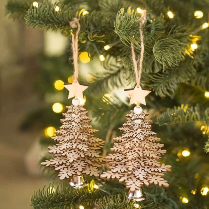 kit enfeites para árvore de natal dourado Foto WayFair