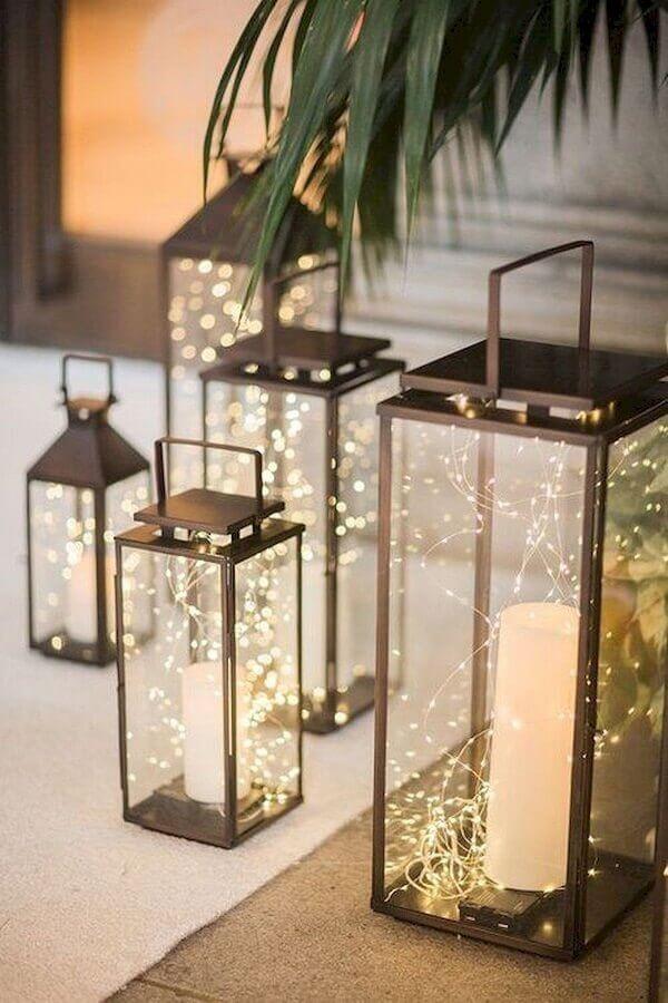 lanternas para decoração de réveillon Foto Pinterest