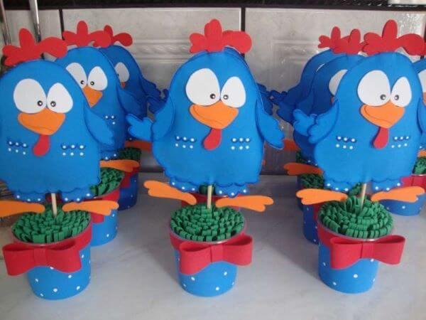 Lembrancinhas de aniversário galinha pintadinha para decorar sua casa