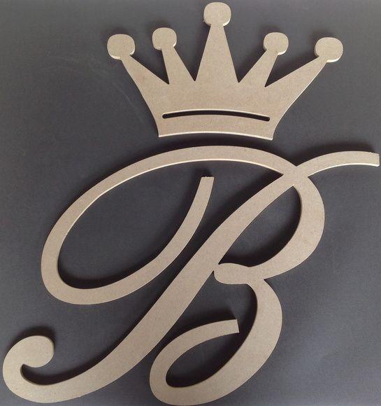 letras decorativas - letra b com coroa