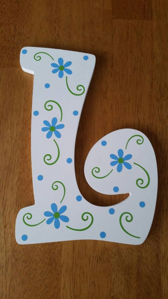 letras decorativas - letra l simples