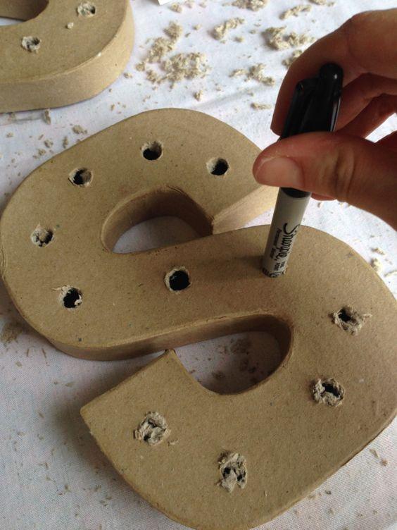 letras decorativas - letra s sendo feita