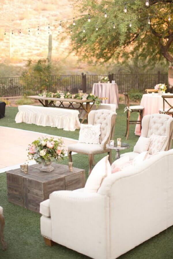 lounge para casamento no campo Foto Pinterest