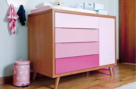 Móveis para quarto rosa