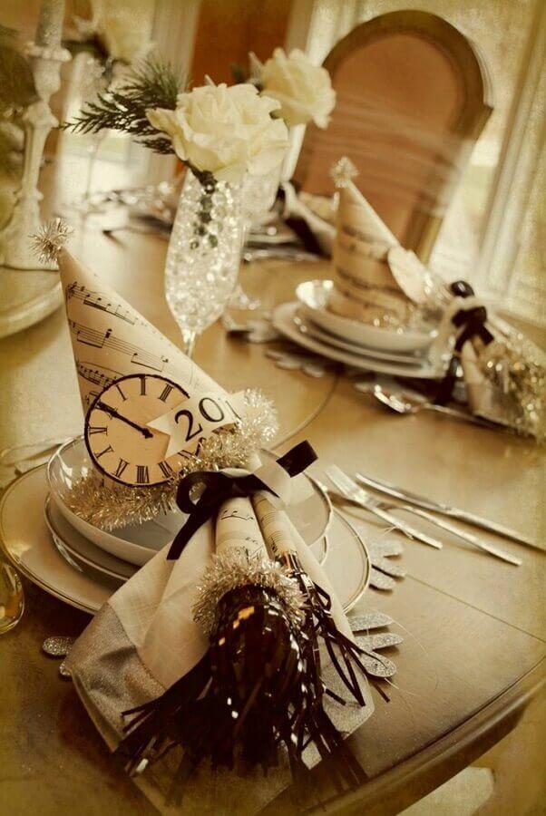 mesa de ano novo decorada simples Foto Archzine