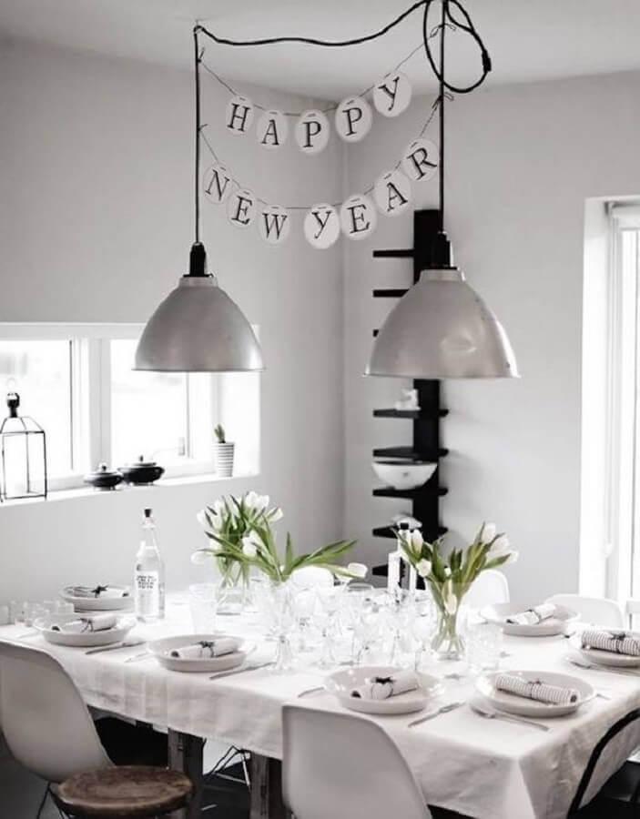 mesa de ano novo decorada simples Foto Art Of Style