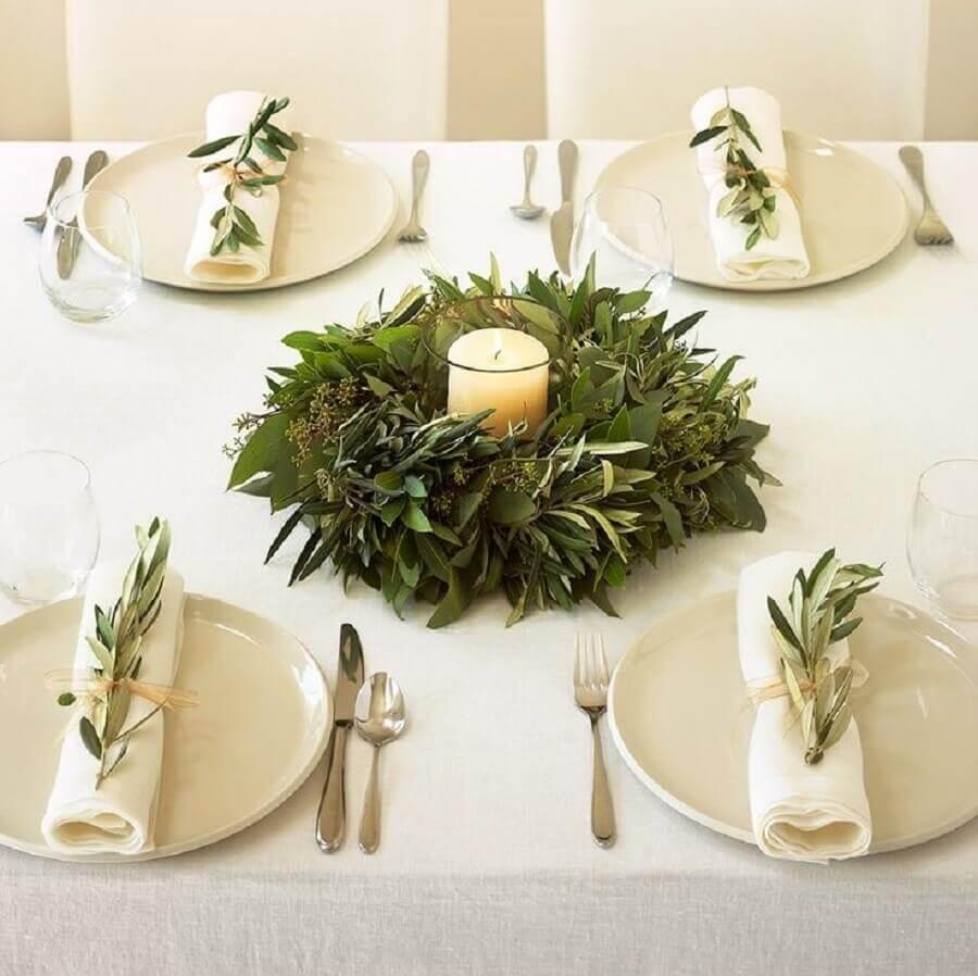 mesa de ano novo decorada simples Foto Iaza