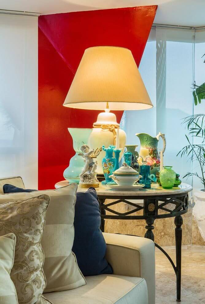 mesa de canto para sala - mesa de canto com abajur