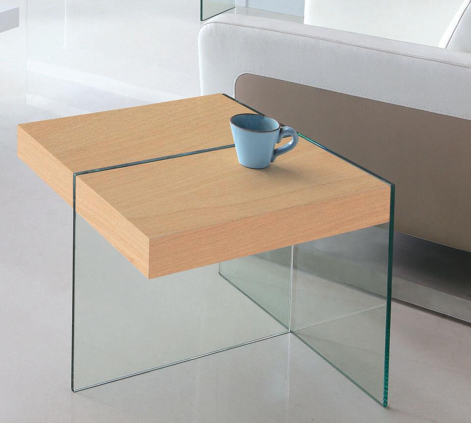 mesa de canto para sala - mesa de canto de madeira e vidro