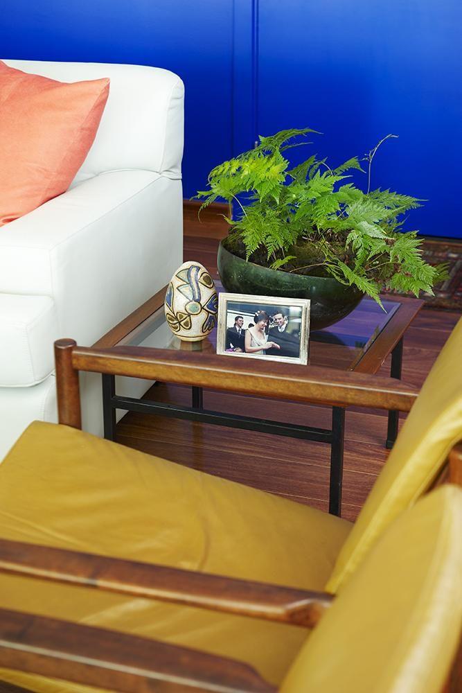 mesa de canto para sala - mesa de canto de vidro com porta retrato