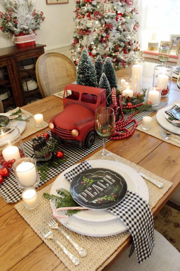 Mesa de natal decorada com opções lindas