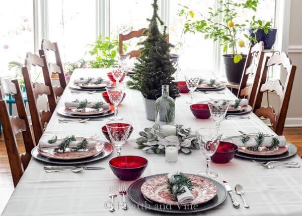 mesa de natal simples