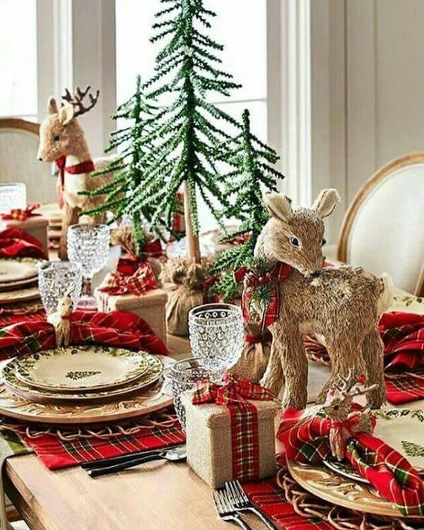 Detalhes lindos para a mesa de natal