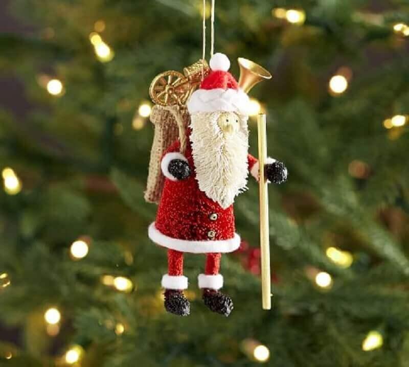 modelo de papai noel para enfeites de árvore de natal Foto Pottery Barn