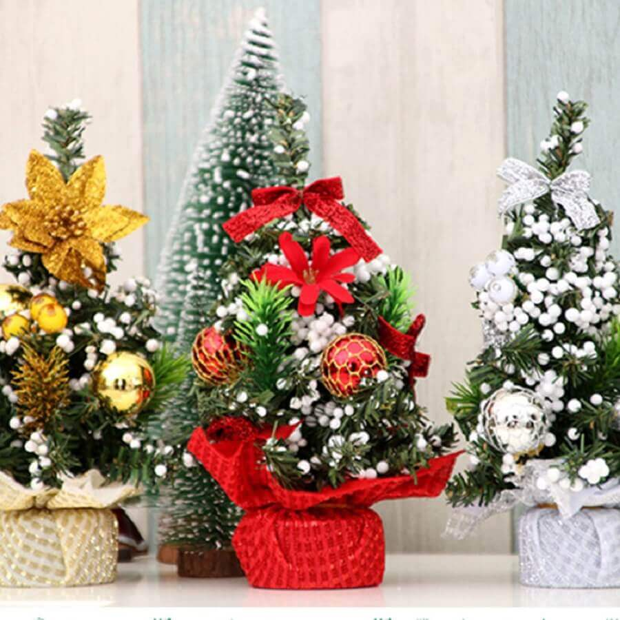 modelos diferentes de árvore de natal pequena Foto eBay