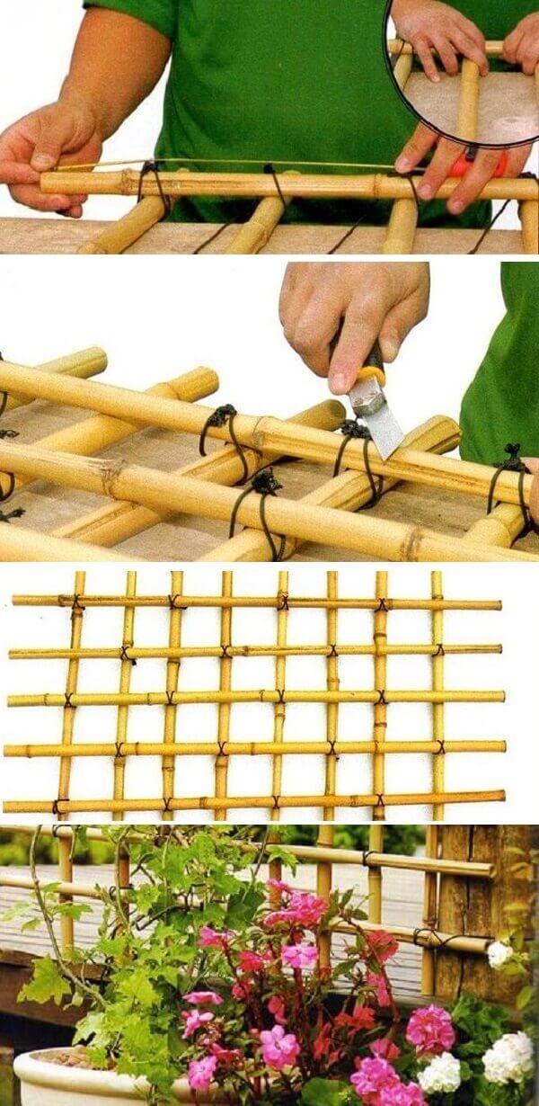Como fazer cerca de bambu para jardim
