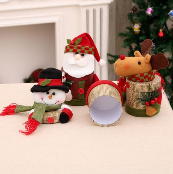 Natal papai noel com frascos de doces