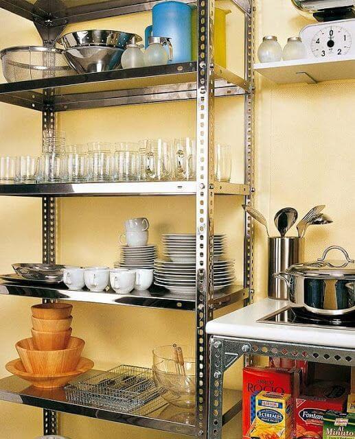 organizadores de cozinha - estante de metal para organização