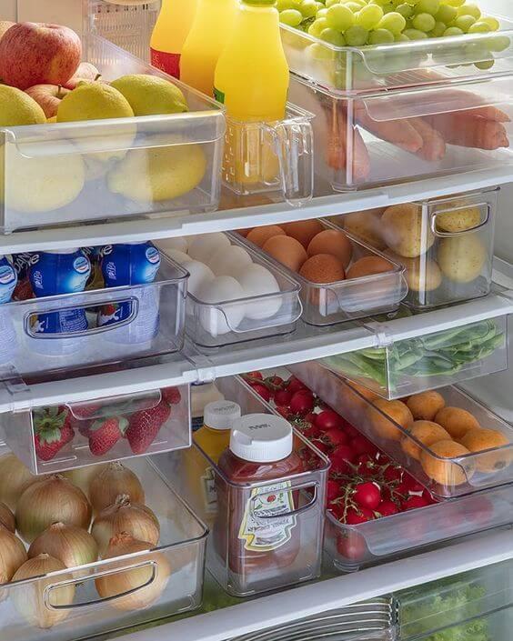 organizadores de cozinha - organizadores de geladeira