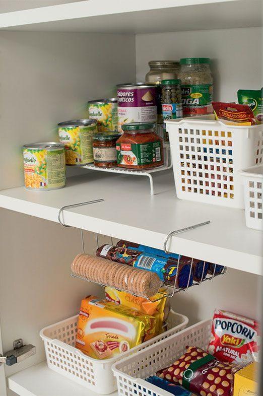 organizadores de cozinha - porta trecos para dispensa