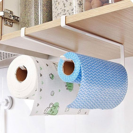 organizadores de cozinha - suporte para papel toalha
