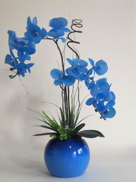 orquídea azul - arranjo de orquídeas artificiais