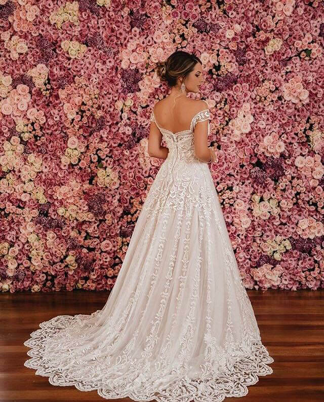 Painel de flores para casamento para fotos