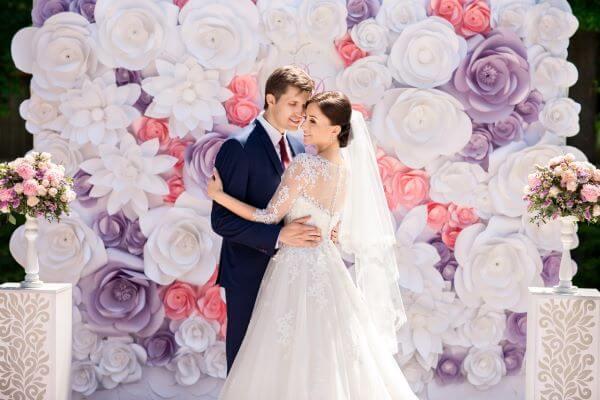 Painel de flores para casamento