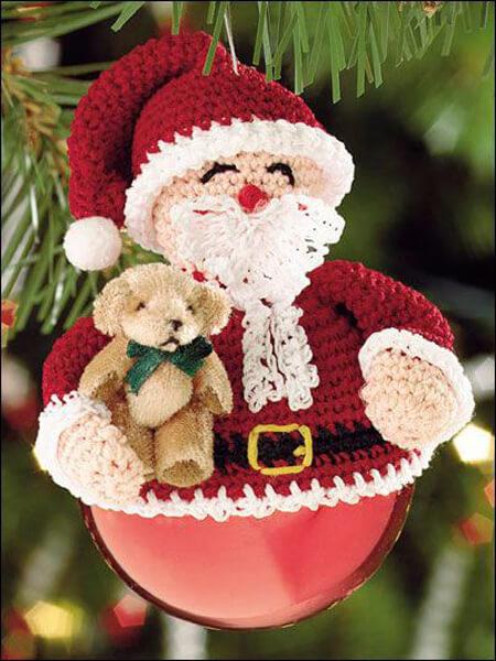 Papai noel decorativo de crochê