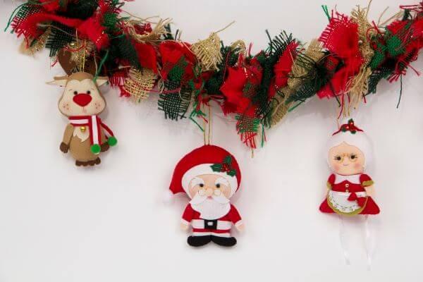 Papai noel na decoração de natal