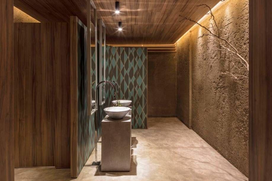 papel de parede geométrico - Papel de parede com chão de mármore