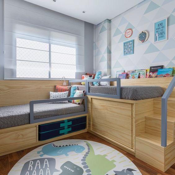 papel de parede geométrico - papel de parede geométrico claro e tapete infantil