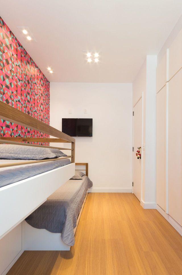 papel de parede geométrico - papel de parede geométrico rosa