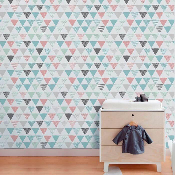 papel de parede geométrico - papel de parede mega colorido