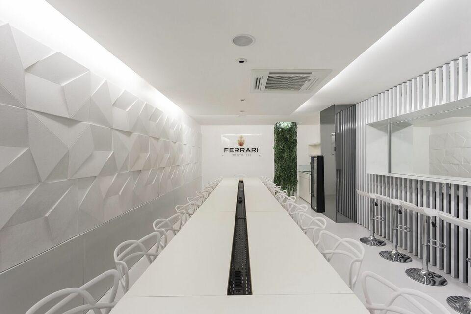 parede 3d - parede branca com revestimento 3d