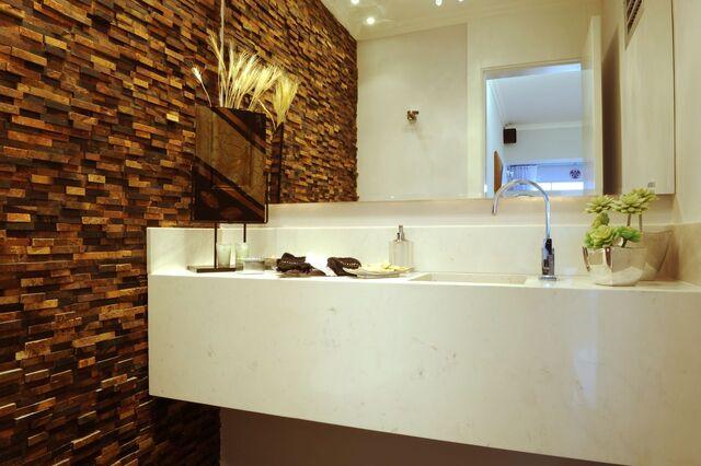 parede 3d - parede com revestimento 3d de pedra