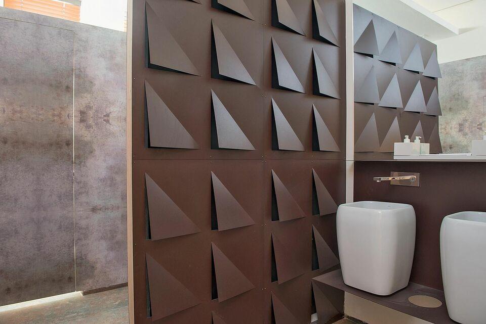 parede 3d - parede com revestimento 3d diferente