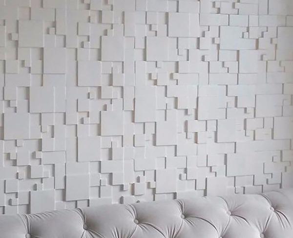 parede 3d - parede de gesso 3d