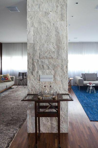 parede de pedra - parede com revestimento de pedra