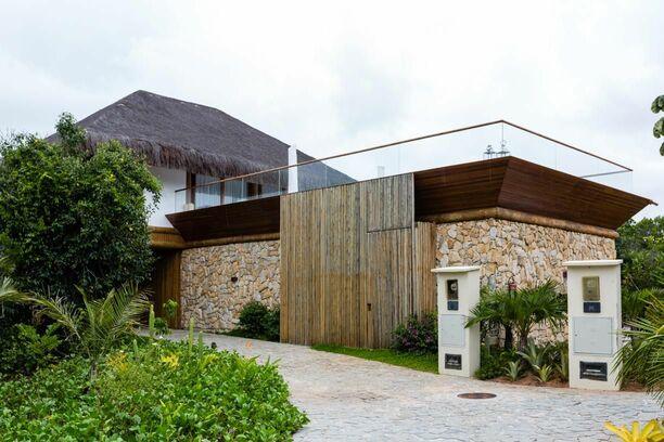 parede de pedra - parede de pedra em fachada de casa