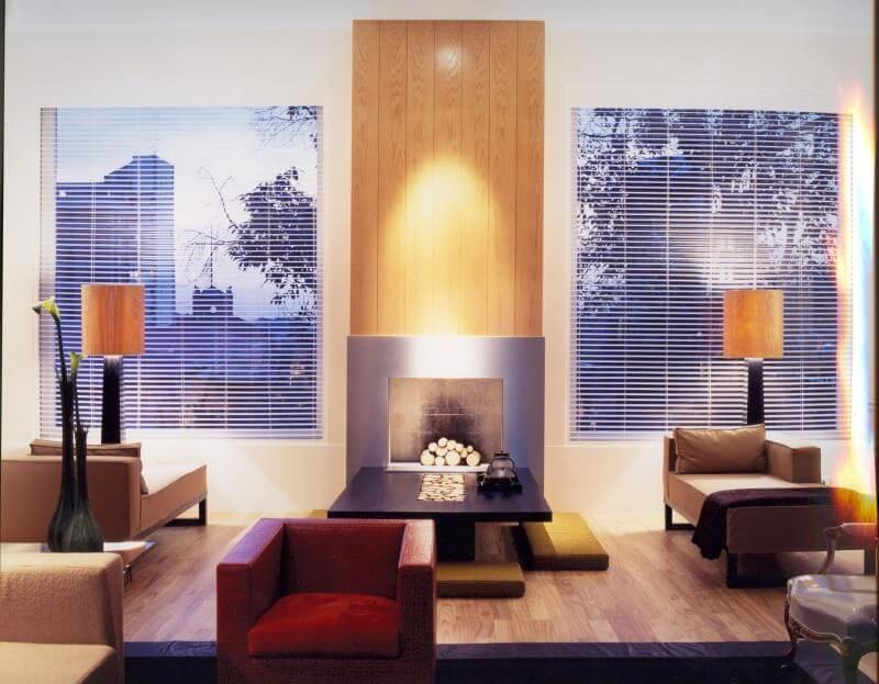 poltrona vermelha - sala de estar com poltrona vermelha