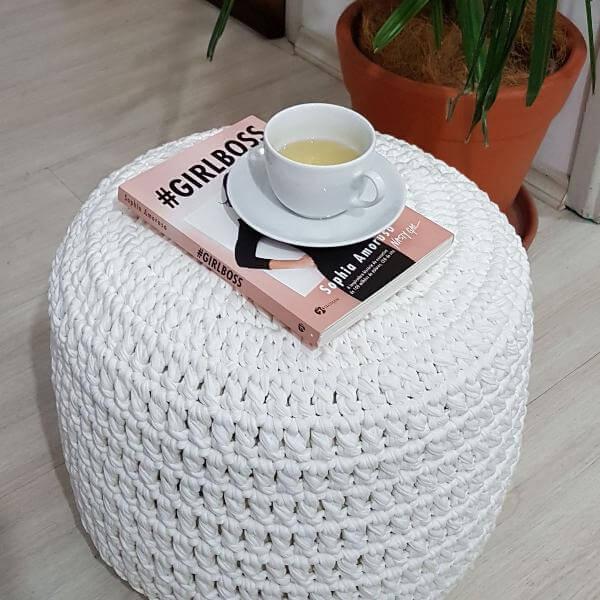 puff de crochê brancopuff de crochê branco
