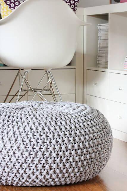 puff de crochê