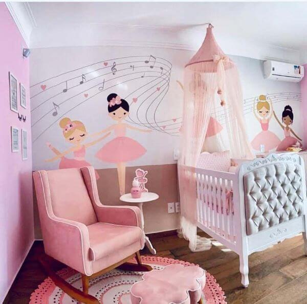 cadeira rosa para quarto confortável