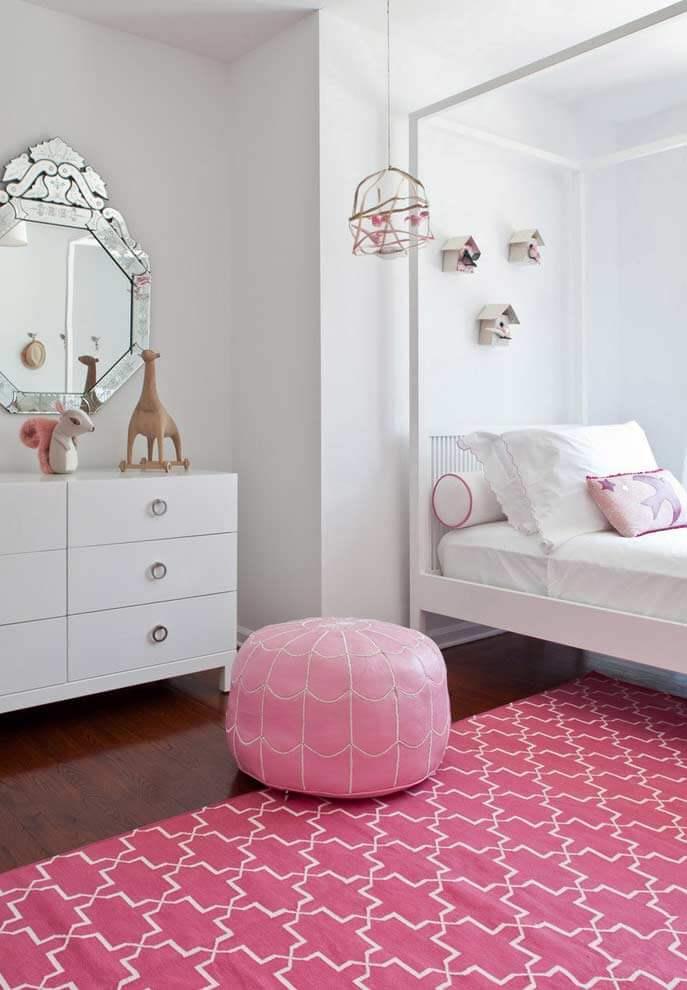 tapete rosa para quarto de menina
