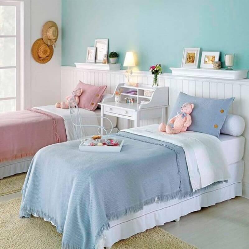 quarto infantil decorado com saia para cama box solteiro Foto Tok&Stok