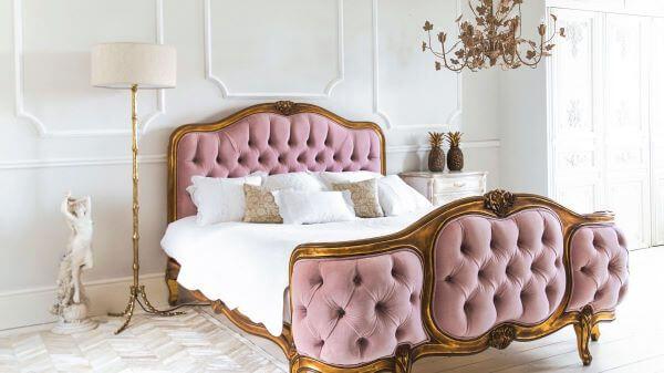 Quarto rosa e branco super romântico