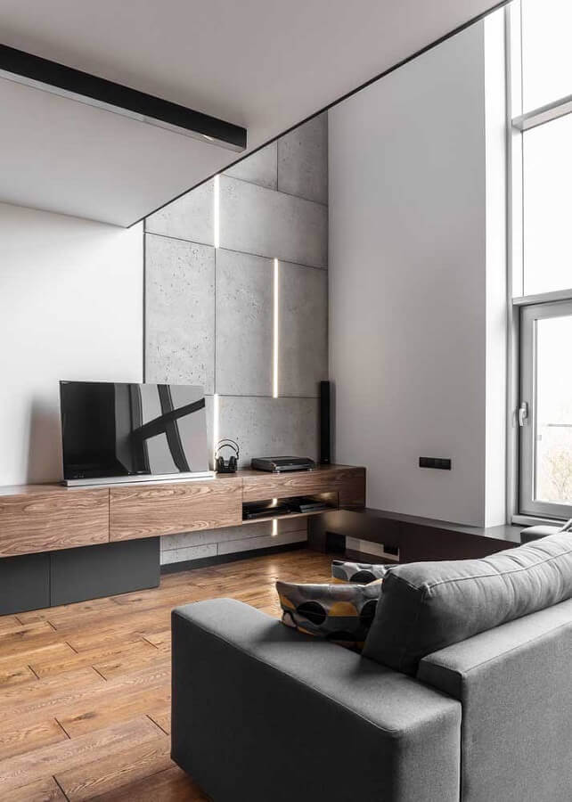rack de madeira para sala de estar Foto TrendsIdeas